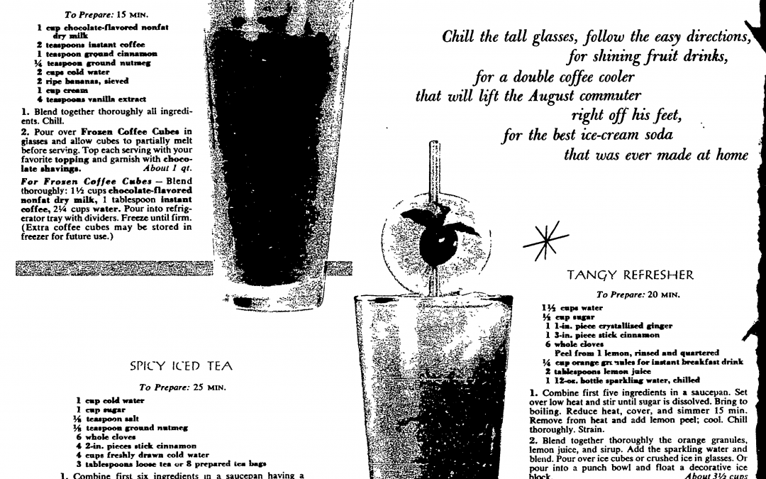 Summer Drink Recipes from 1959!