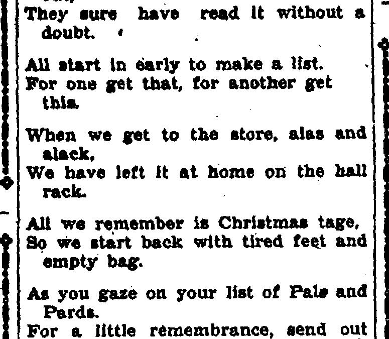 A Christmas Rhyme