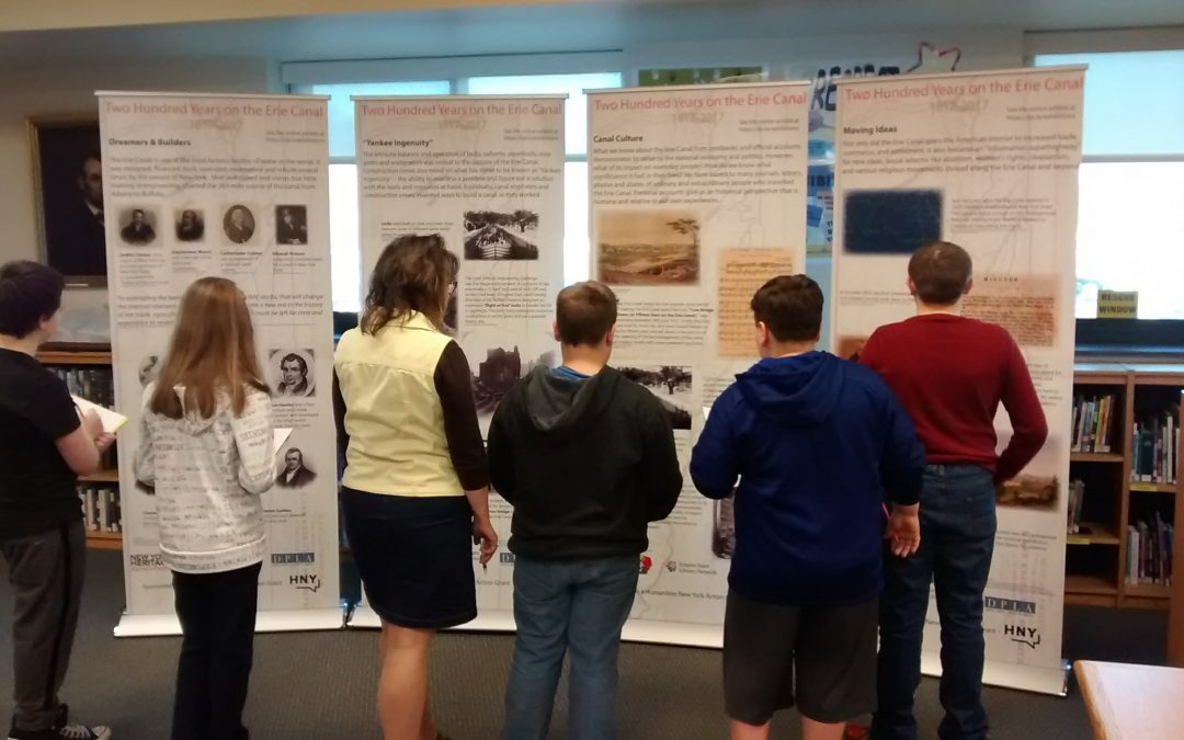 Erie Canal Exhibit in the Adirondack Central School District by Kathleen M. Roberts