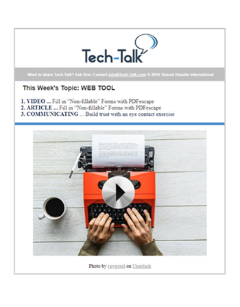 Weekly Tech-Talk Emails