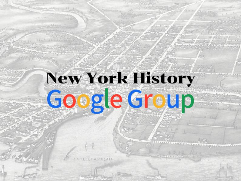 New York History Google Group