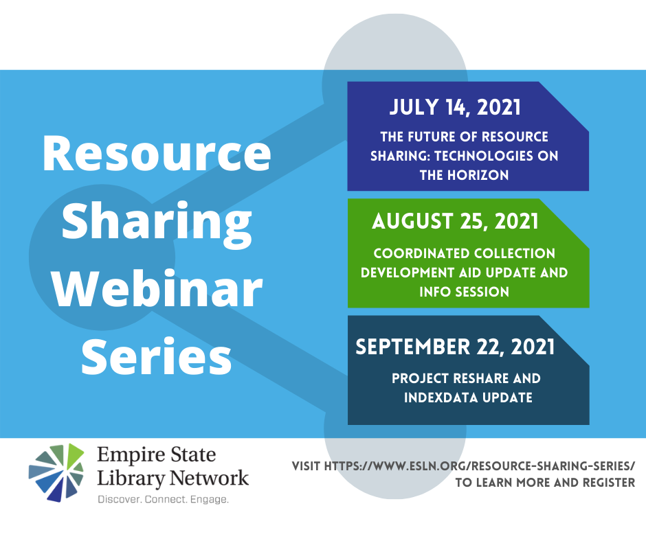 Upcoming Resource Sharing Webinar Series
